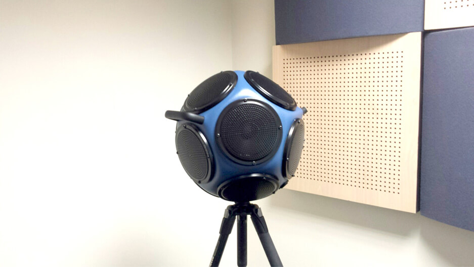dodecahedron loudspeaker used for acoustic testing