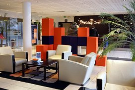 Coloured Prosonic Acoustic cubes stacked in reception
