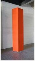 Orange colour Totem freestanding