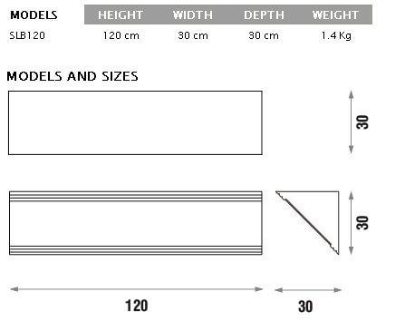 Jocavi acoustic slim base dimensions and detail