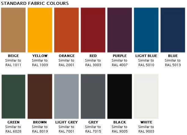 jocavi convexabsorber fabric colours