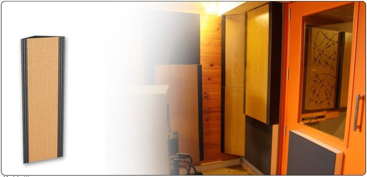 Jocavi acoustic absorption panel corner slim base in professional studio
