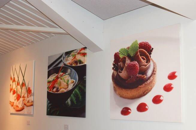 acoustic panels with digital printing of food
