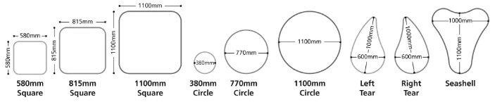individual bubble acoustic panel shapes