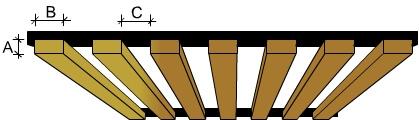 ilux b showing rear black battens