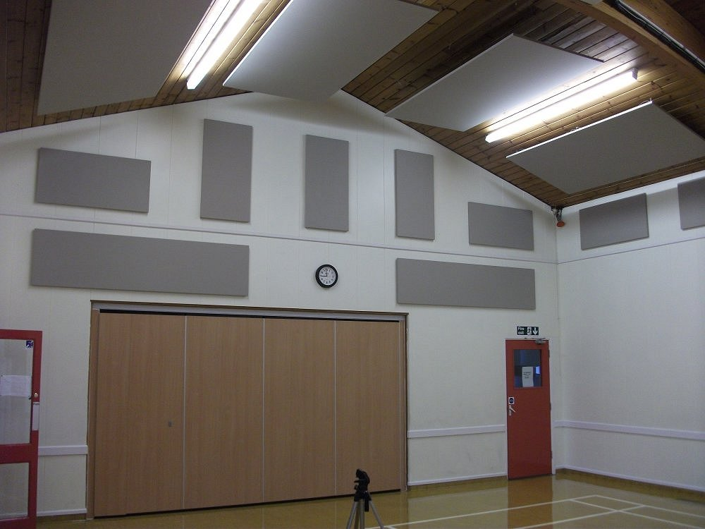 village-hall-end-wall-acoustic-treatment