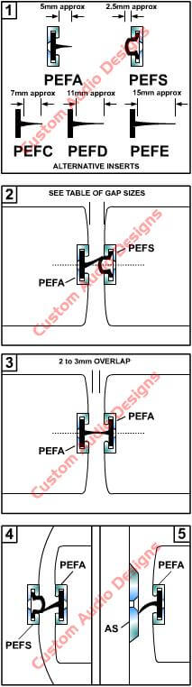 acoustic seal PEF installation drawing