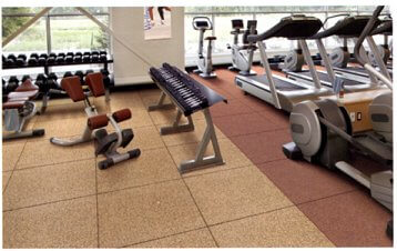 reducing noise through gym and fitness centre floors