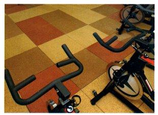 fitness flooring acoustic tiles