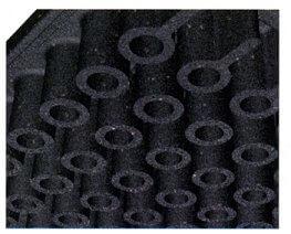 the cylinder designed underside of FIT70 tiles