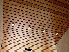 acoustic slatted timber panels