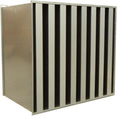 rectangular industrial acoustic silencer