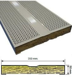 ACOUSTIsON perforated steel Industrial Acoustic sound absorbing Panel Systems