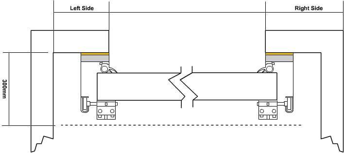 plan detail of acoustic roller shutter door