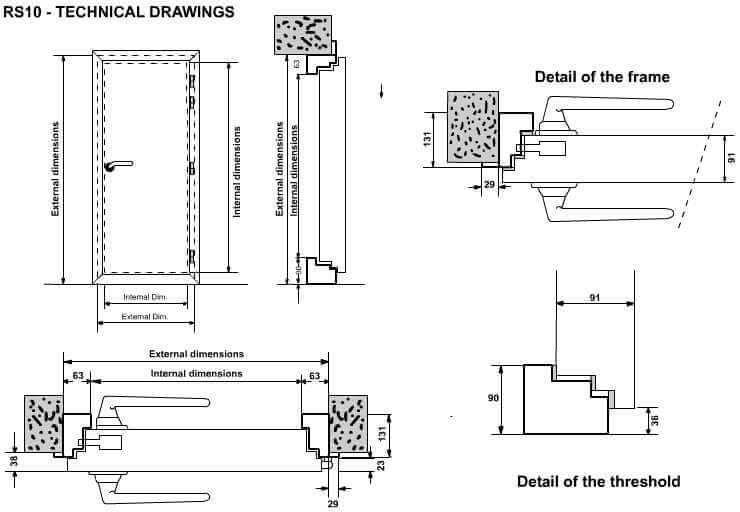 RS10 Seel acoustic door technical detail