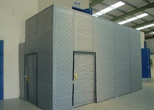 acoustic curtains acoustic drapes for portable industrial environmental or outdoor applications temporary acoustic enclosures