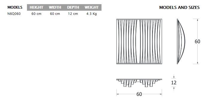 jocavi Neo 6Q isometric drawing sizes models