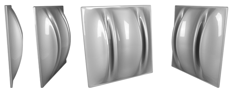 Jocavi Neo3Q colour acoustic diffusion panels Grey