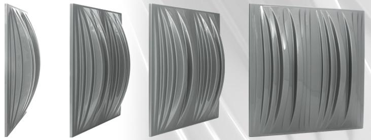 Jocavi Neo6Q colour acoustic diffusion panels Grey