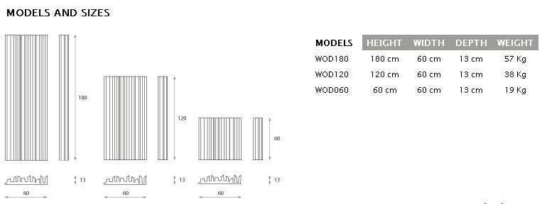 Jocavi WooDiffuser, technical drawings and dimensions