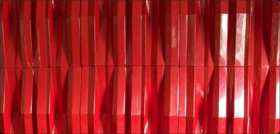 Red Jocavi acoustic diffuser Tuneflector colour profile