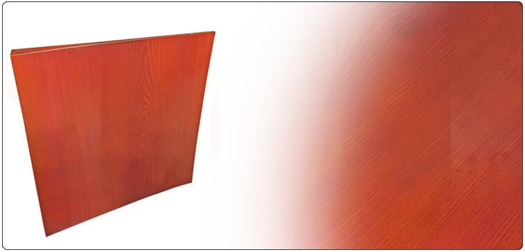 Woodfoil slightly concave diffusion panel,  varnished birch plywood on a soft wood structure.