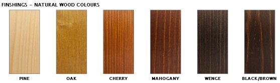Woodfoil timber panel,  varnished birch plywood on a soft wood structure 6 timber options
