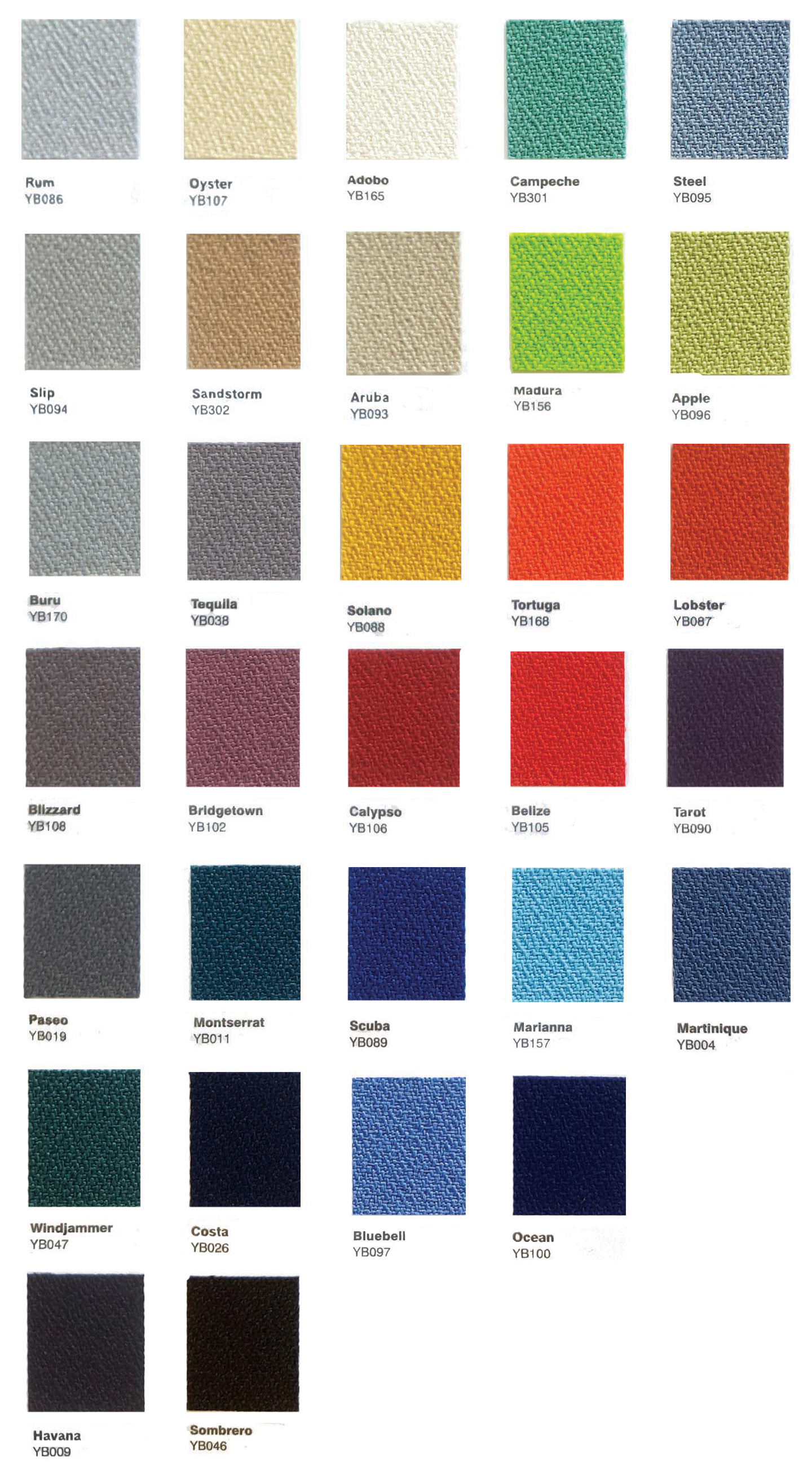Acoustic fabric - Lucia range of colours