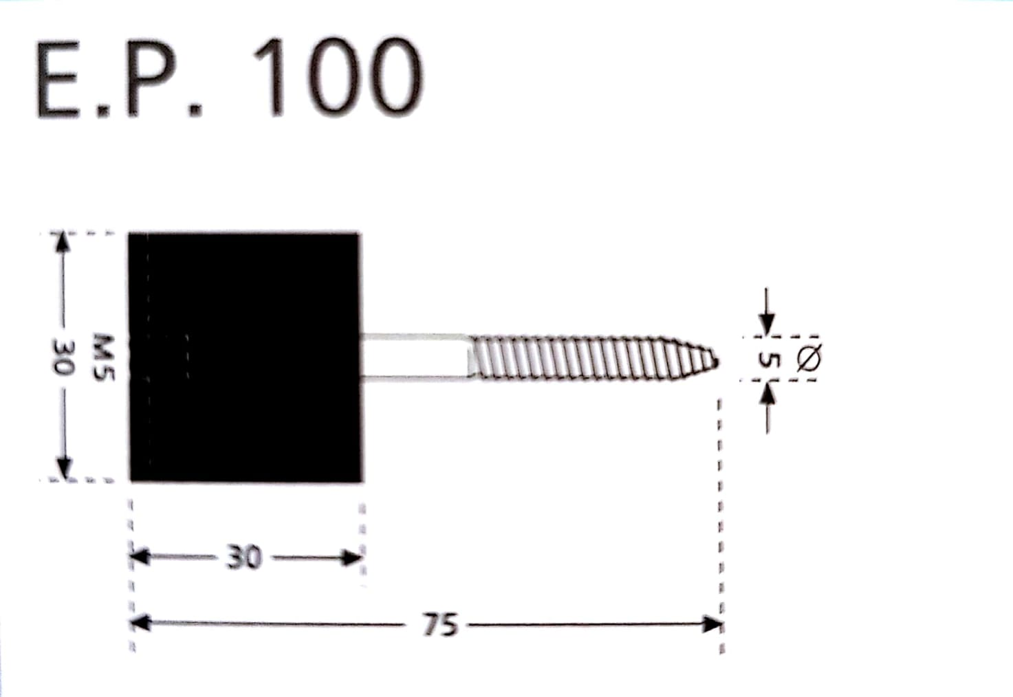 Custom EP100 wall vibration isolation mount