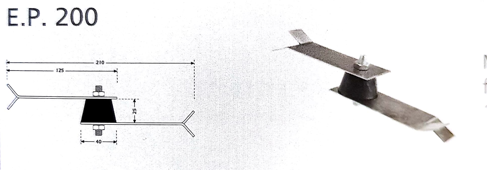 Custom EP200 wall vibration isolation mount