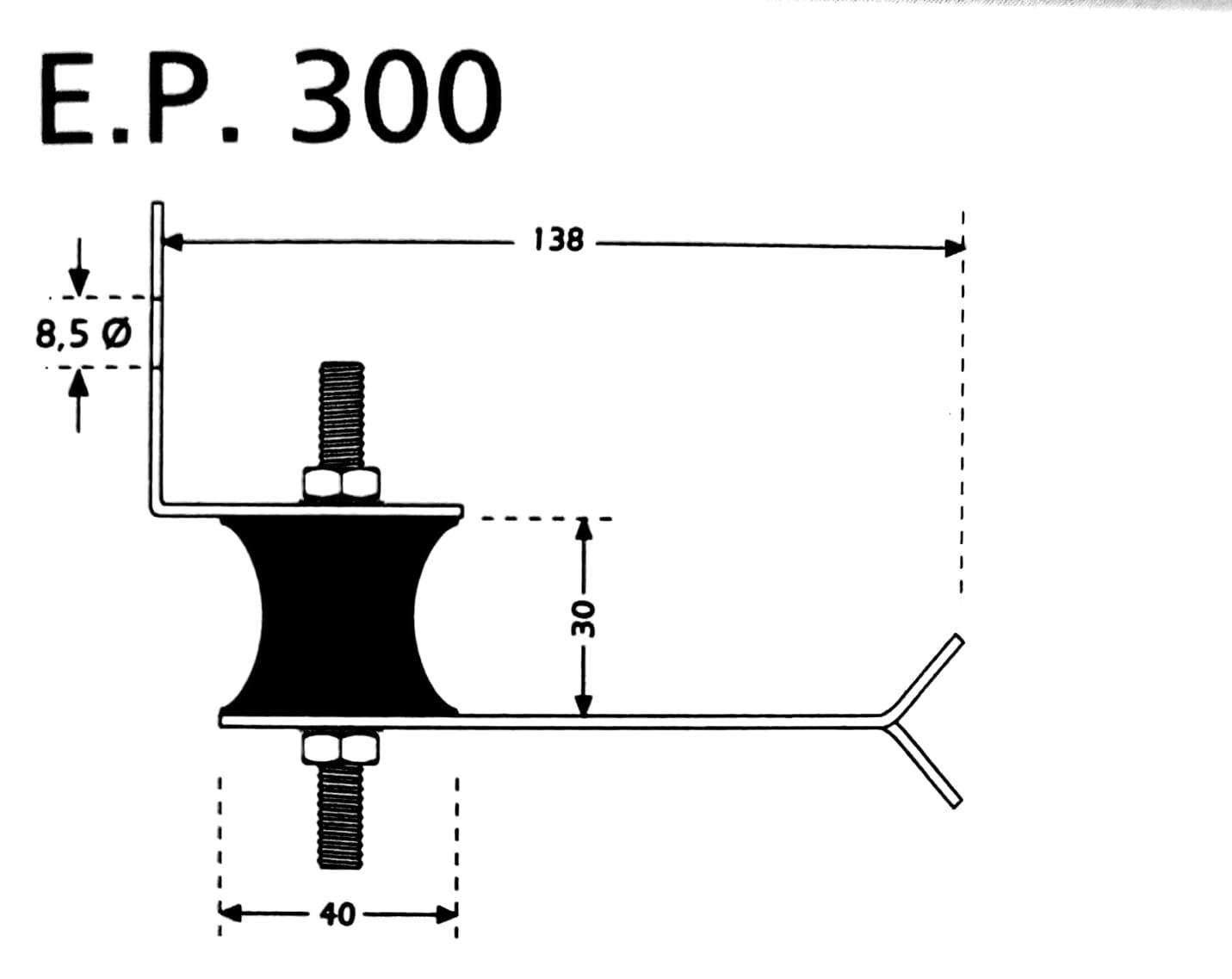 Custom EP300 wall vibration isolation mount