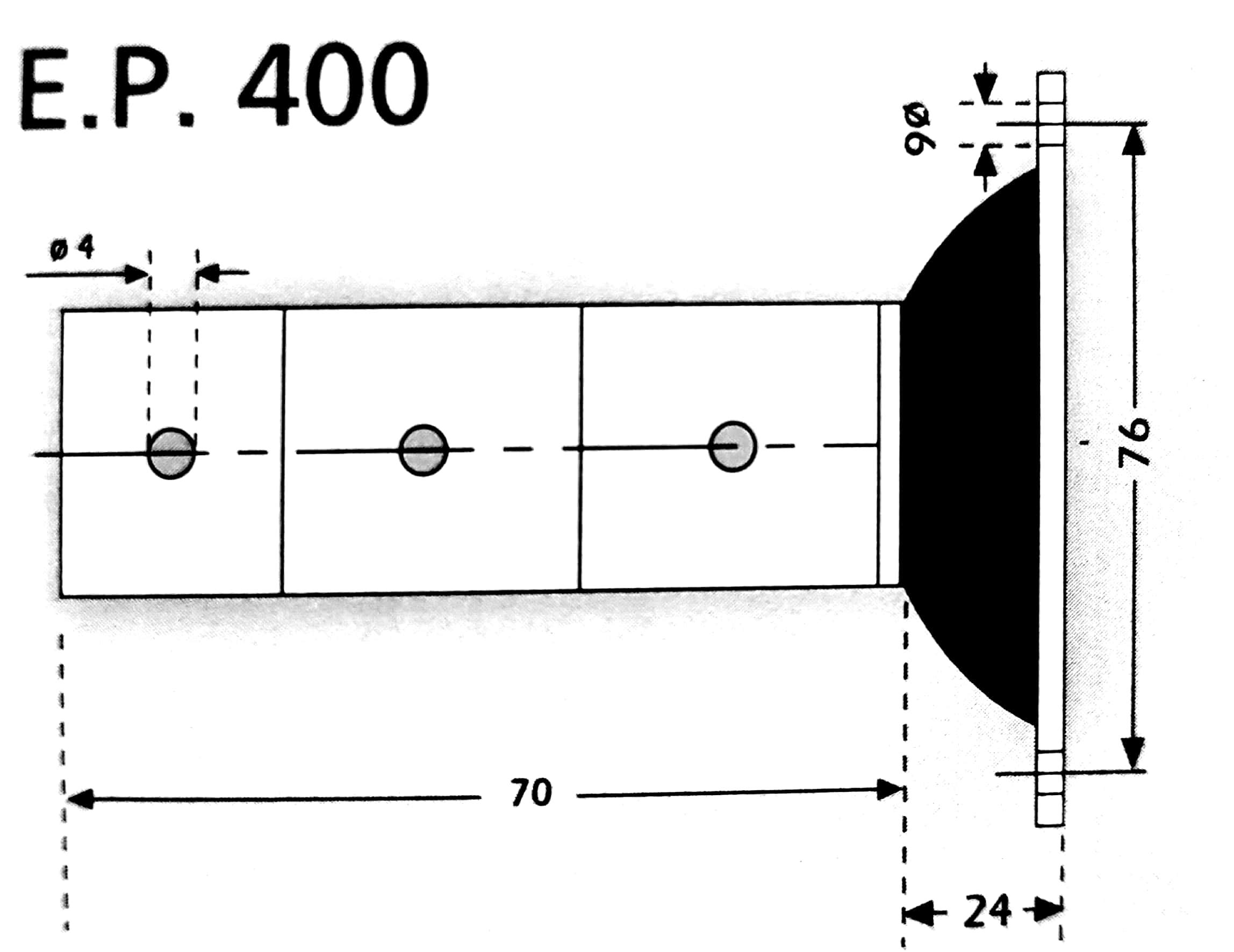 Custom EP400 wall vibration isolation mount