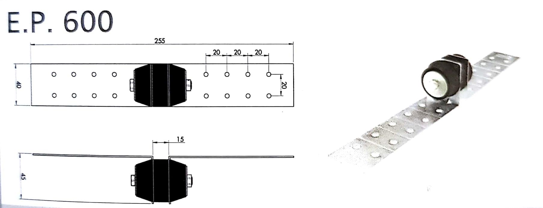 Custom EP600 wall vibration isolation mount