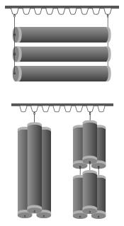installation of acoustic tubes using hooks