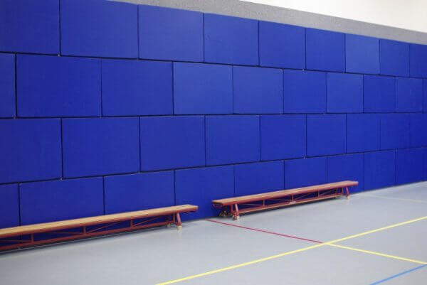 sports impact acoustic panels in brick layout
