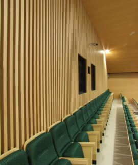 I-Lux slats acoustic timber panel systems