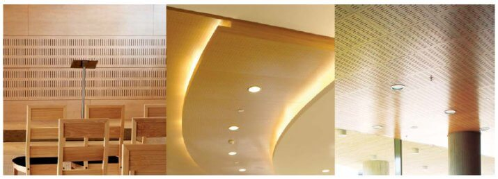ITEC perforated acoustic timber panel systems