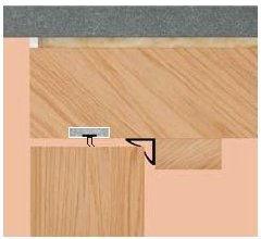 diagram showing acoustic fire seal installed in the door frame
