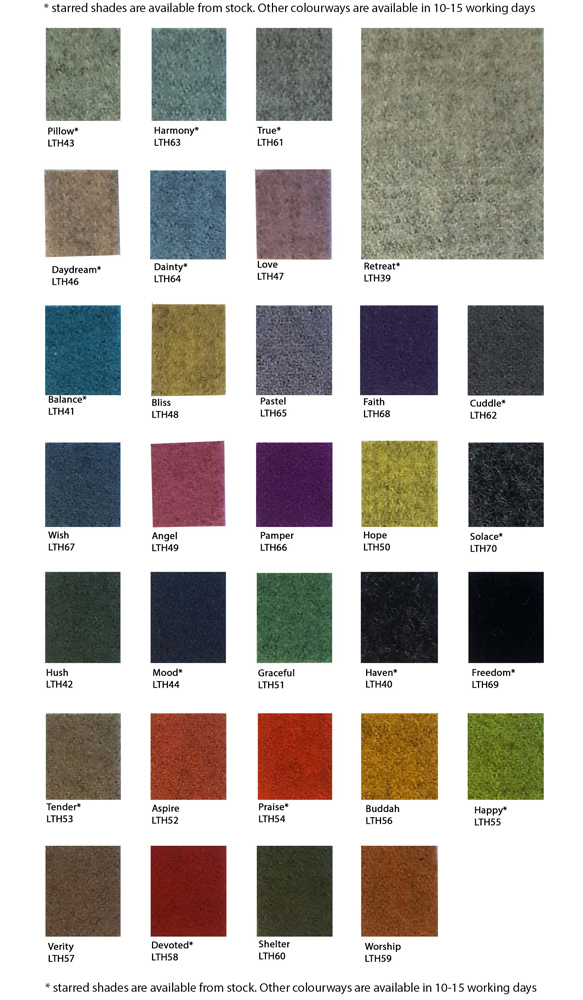 blazer lite acoustically transparent fabric colour range