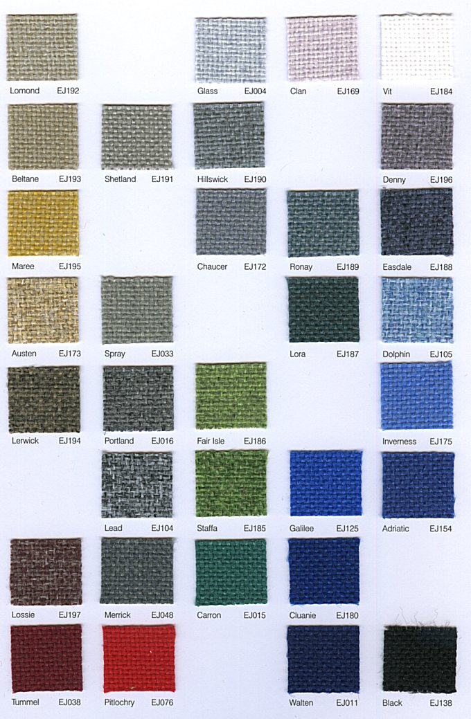 acoustically transparent fabric range Cara colour choices