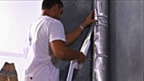 apply the foil duct tape to the vertical seams of the FT55AL