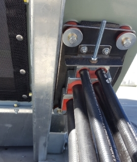 resilient pipe mount hydraulic system installation