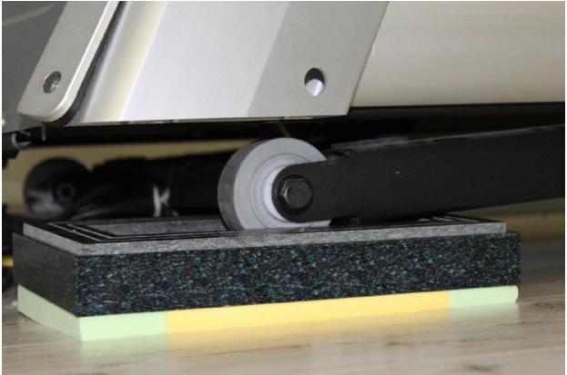 Treadmill running machine isolation pads